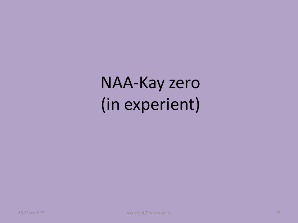 NAA-Kay zero (in experient) 13 Maret015aguszani@batan.go.id25