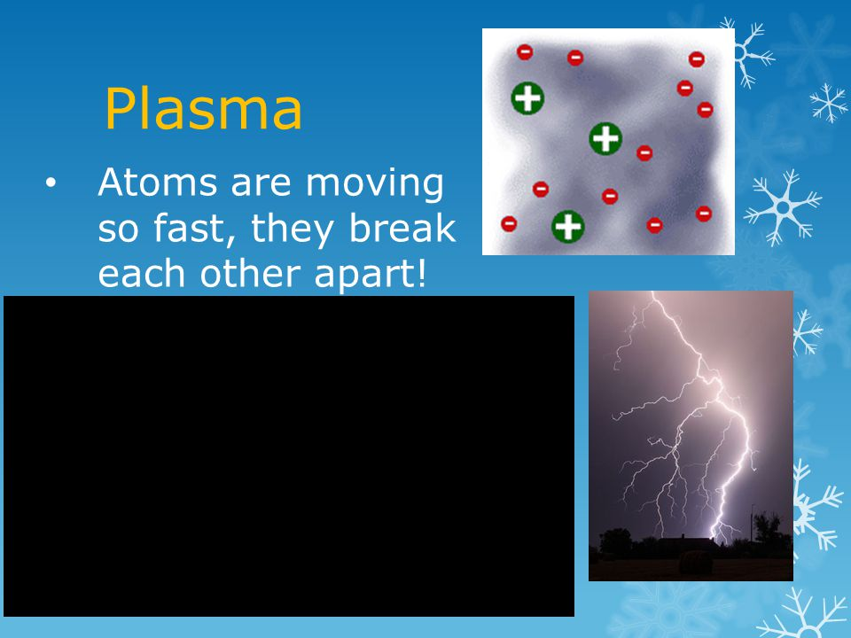 Plasma Atoms are moving so fast, they break each other apart!