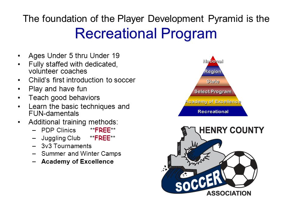 Academy of Excellence The next level is the Academy of Excellence Ages Under 9, 10, 11, and 12 Professional coaches and trainers with state and national licenses Curriculum approved by the State Director of Coaching Play, have fun, and teach good behaviors.
