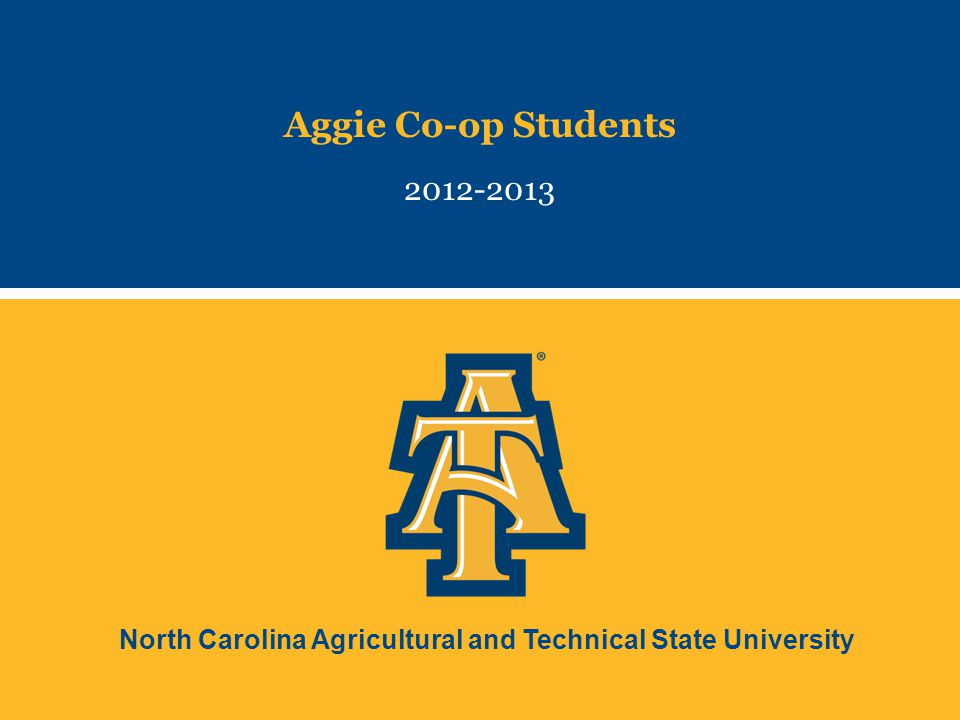 North Carolina Agricultural and Technical State University Aggie Co-op Students 2012-2013