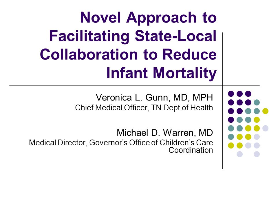 Infant mortality is not a health problem.