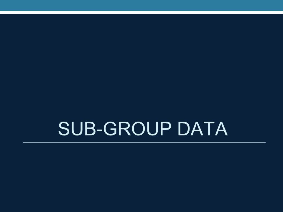 SUB-GROUP DATA