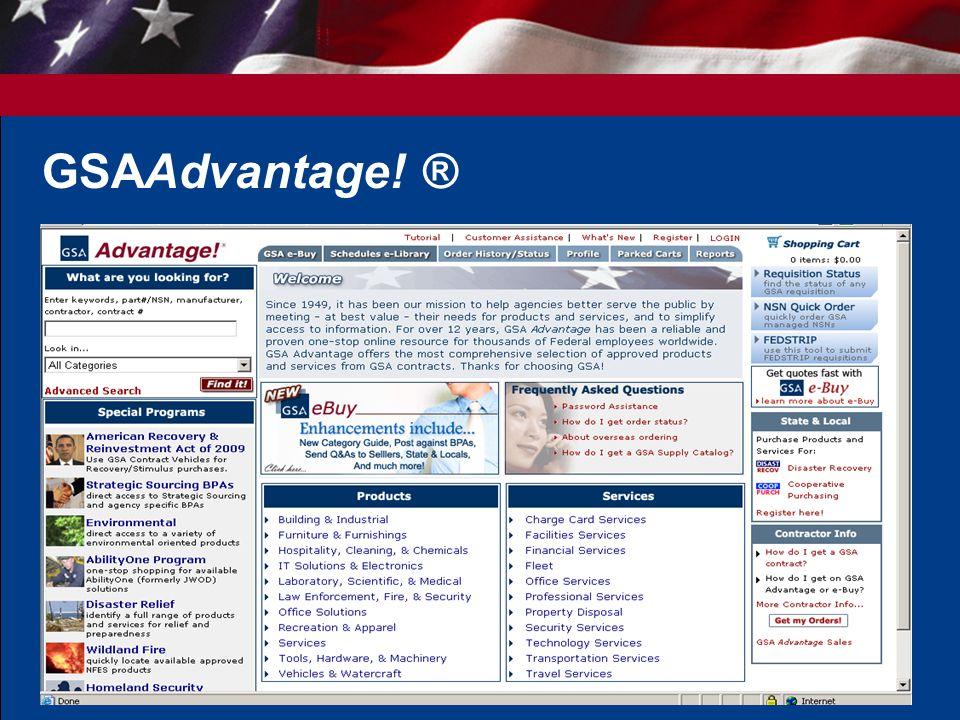 9 GSAAdvantage! ®