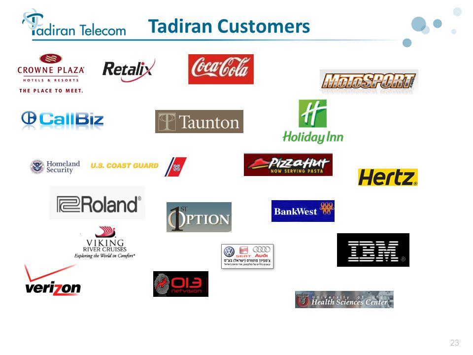 23 Tadiran Customers