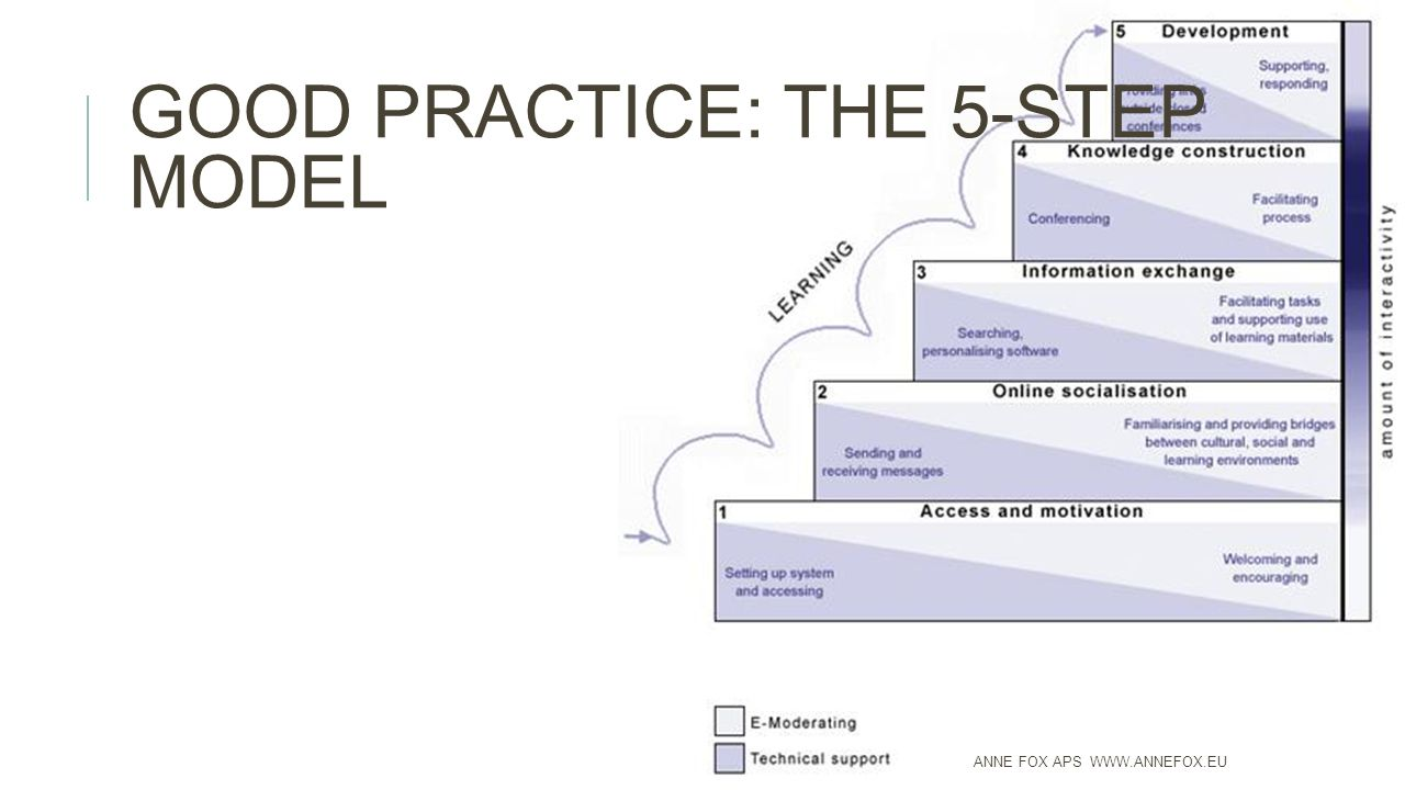 GOOD PRACTICE: THE 5-STEP MODEL ANNE FOX APS WWW.ANNEFOX.EU
