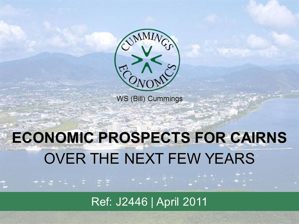 Cummings Economics / March 2011 2 RESIDENTIAL POPULATION GROWTH - CAIRNS