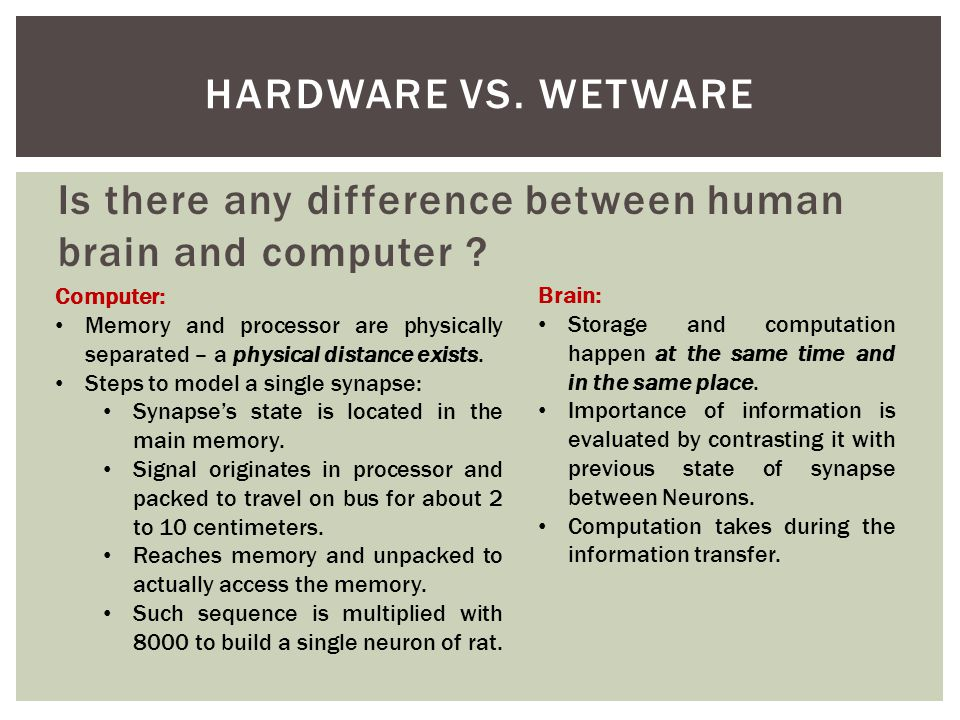 Is there any difference between human brain and computer .