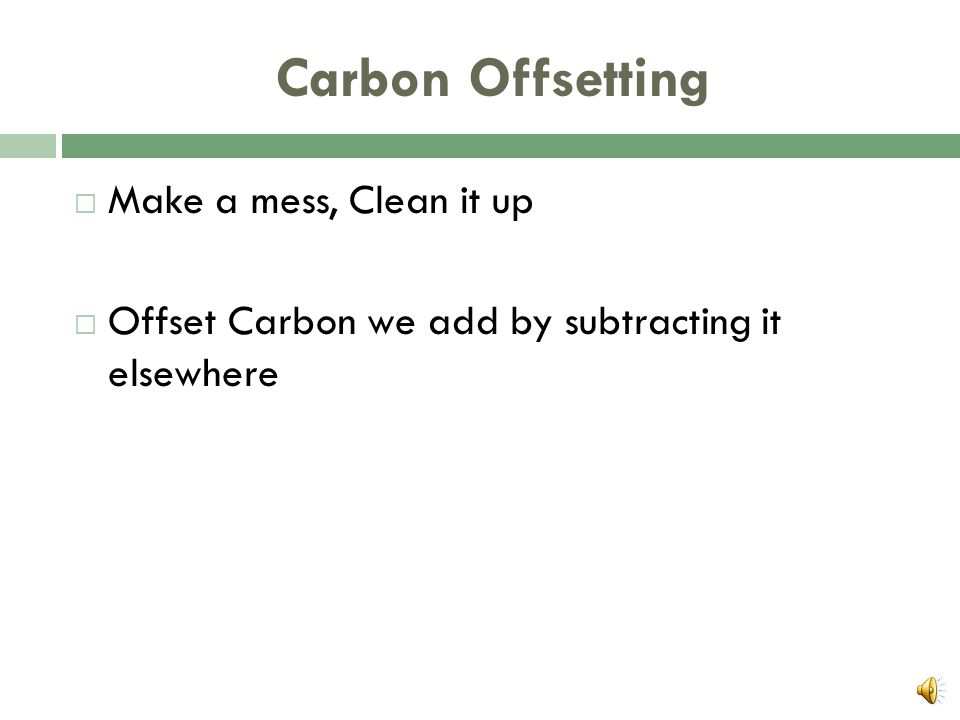 Basics of Carbon Offsetting