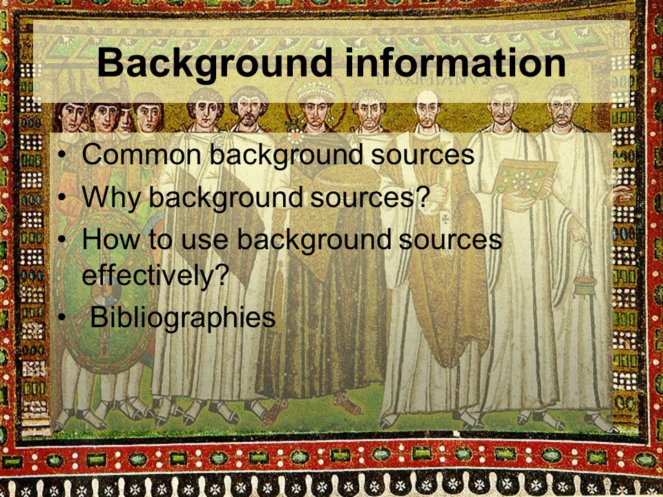 Background information - print Historical dictionary of Byzantium / John H.