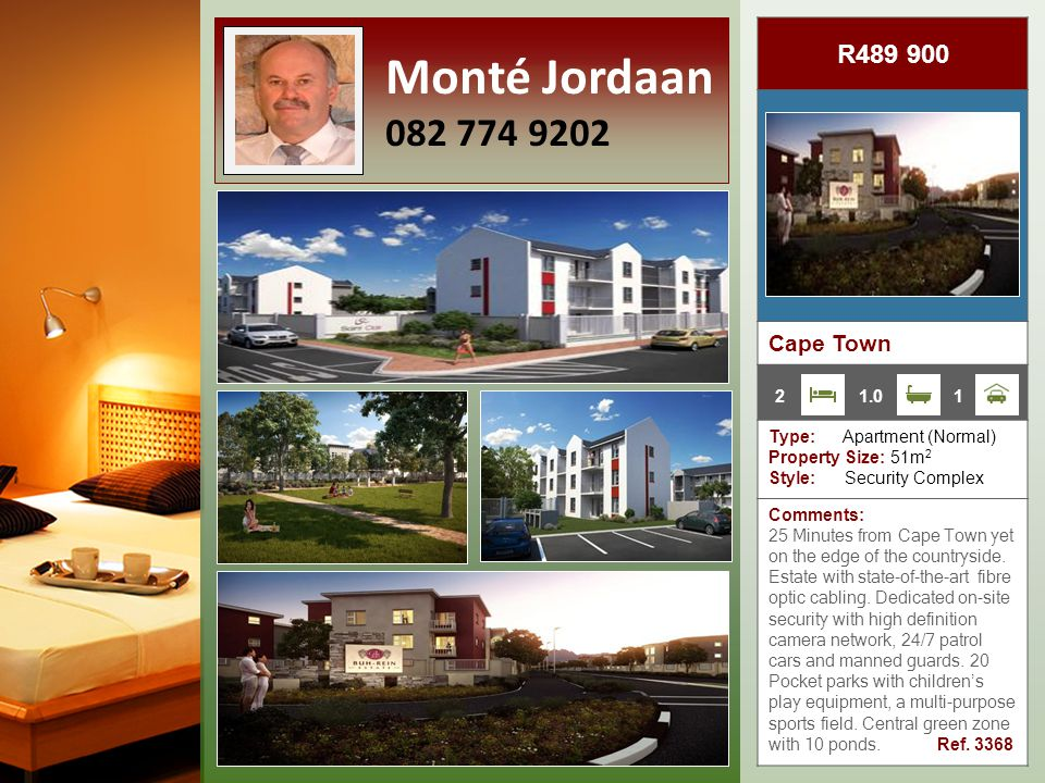 R955 000 Strand Beachfront Type: Apartment (Normal) Property Size: 83m 2 Style: Beachfront High-rise Comments: Wooden floors and basement parking.