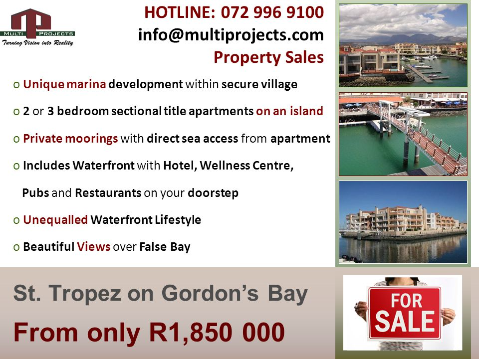 From only R1,850 000 St.