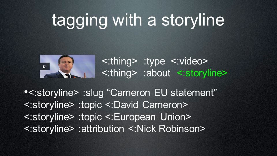 topics connect storylines