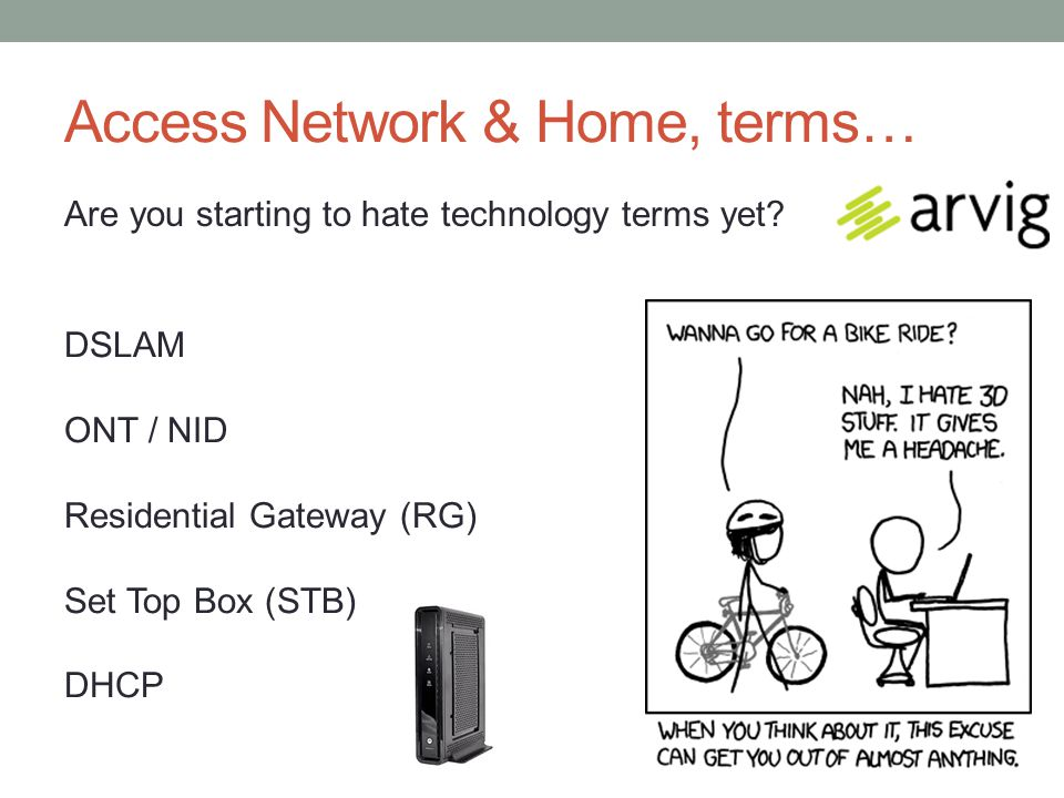Access Network & Home, terms… Are you starting to hate technology terms yet.
