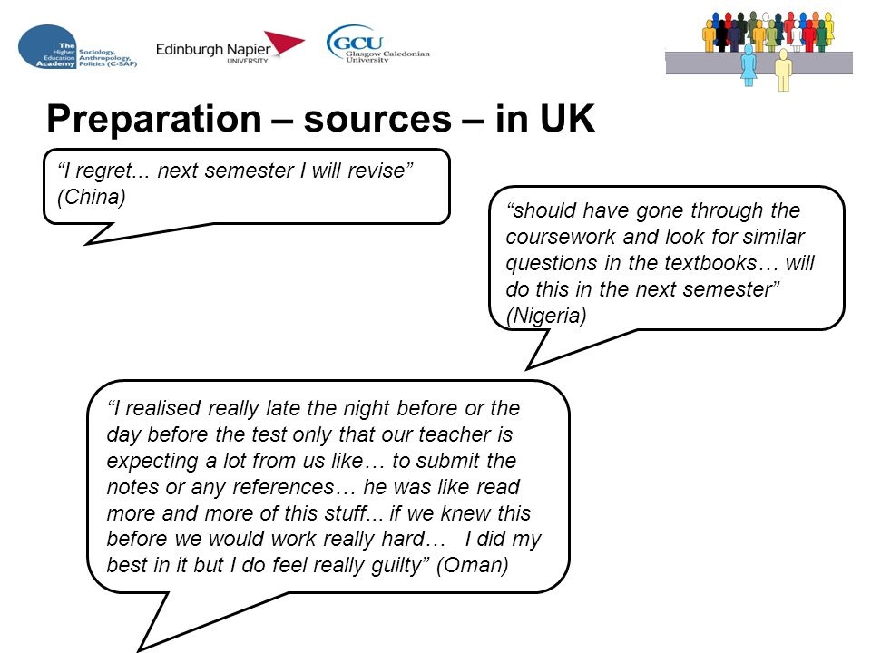 Preparation – sources – in UK I regret...