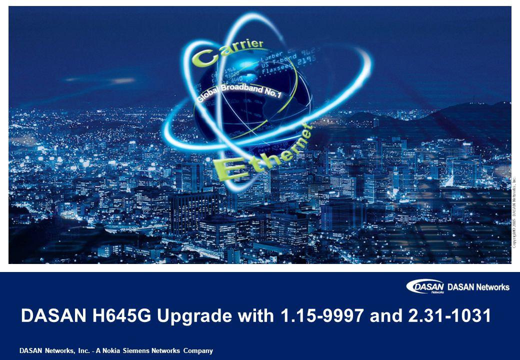 DASAN Networks, Inc.- A Nokia Siemens Networks Company Copyright© 2005 DASAN Networks, Inc.