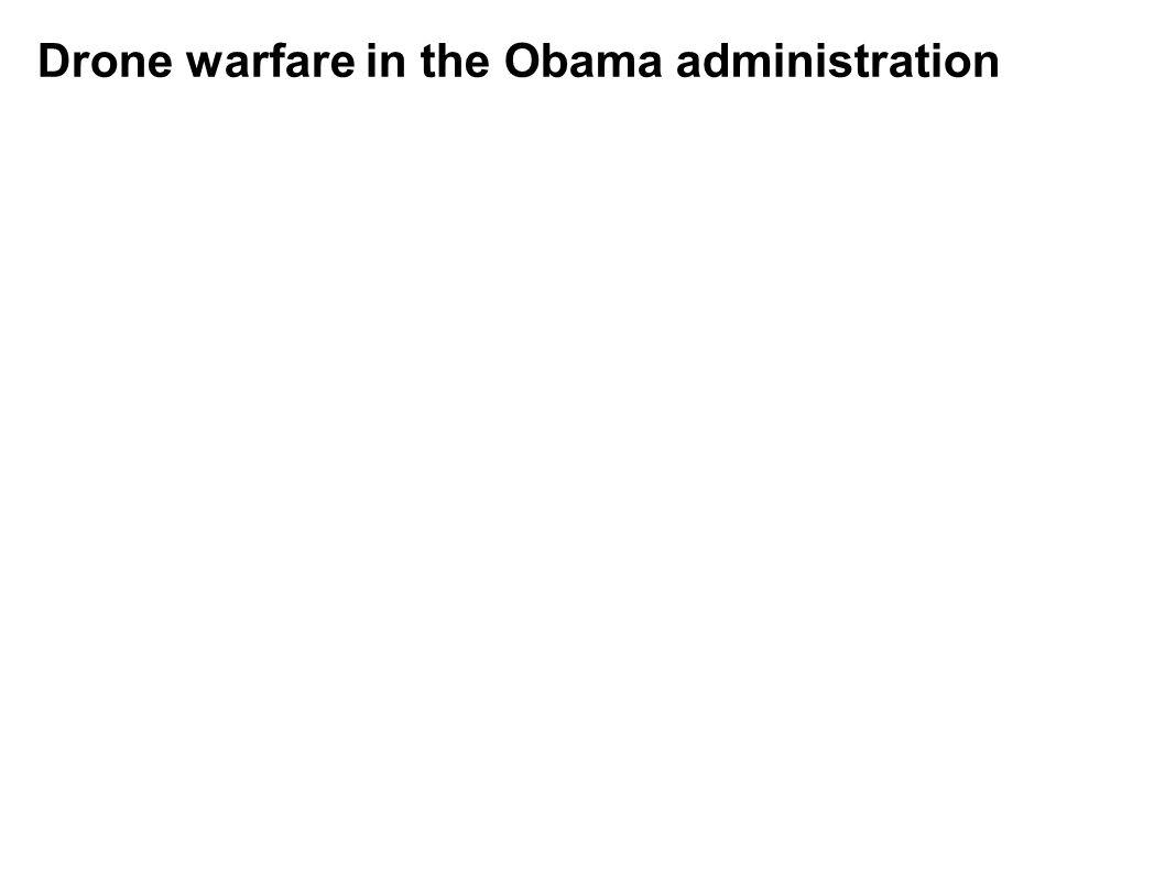 Drone warfare in the Obama administration