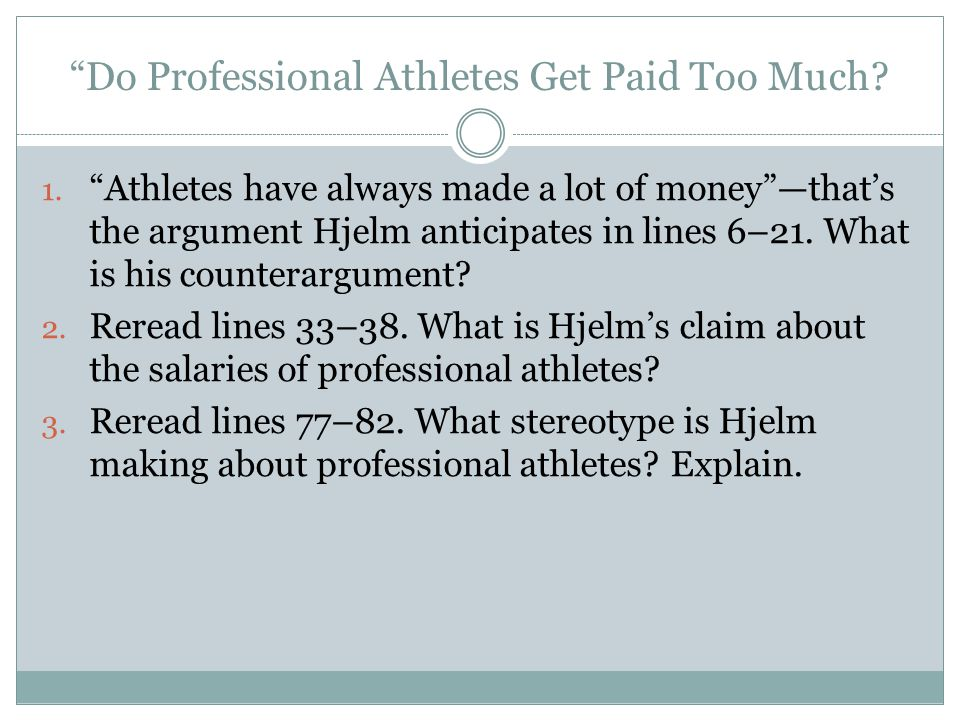 Are actors and professional athletes paid too much argumentative essay