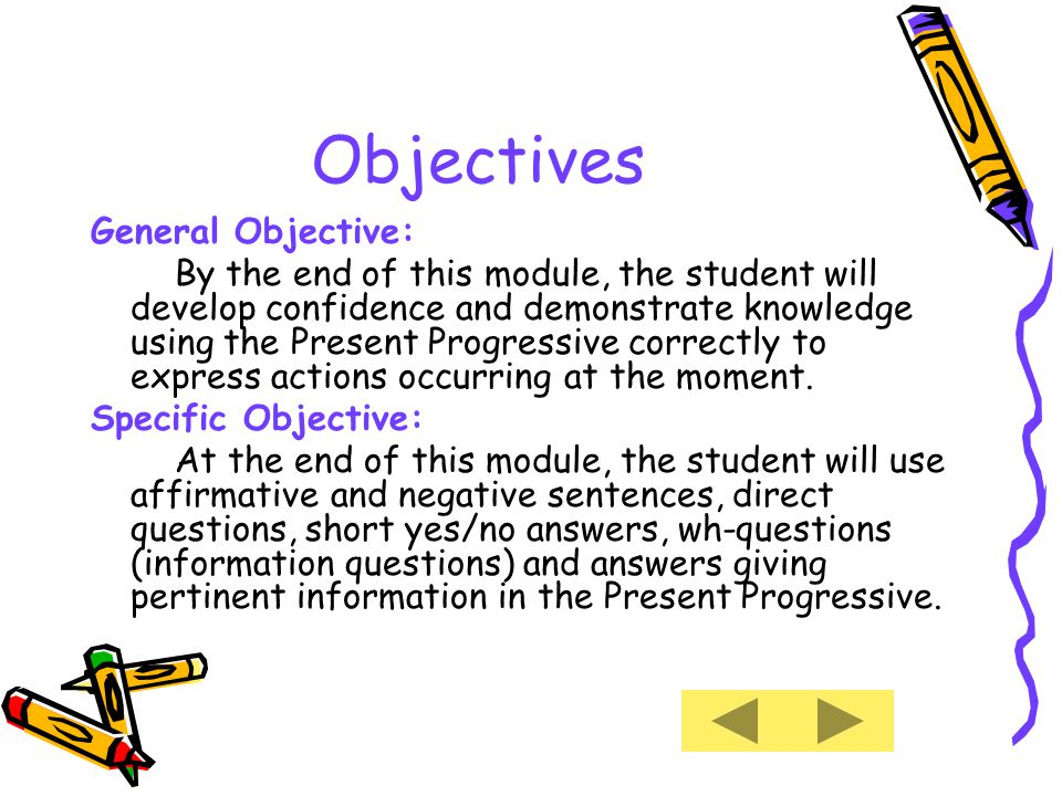 Introduction One of the most important verb tenses an ESL student should master to communicate effectively in English orally as well as in written form is the Present Progressive Tense.