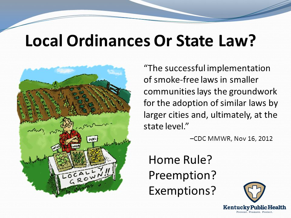 Local Ordinances Or State Law.Home Rule. Preemption.