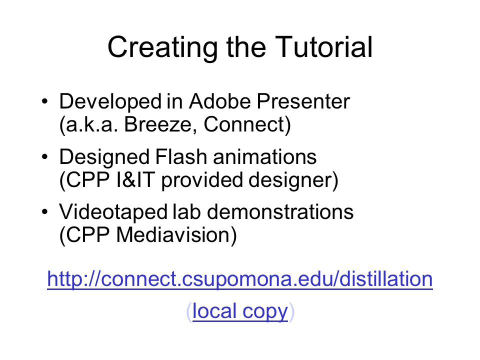 Creating the Tutorial Developed in Adobe Presenter (a.k.a.