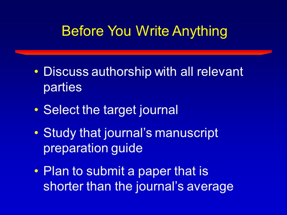 What a Scientific Paper Needs to Communicate Why did you start.