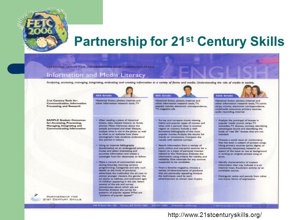 Partnership for 21 st Century Skills http://www.21stcenturyskills.org/