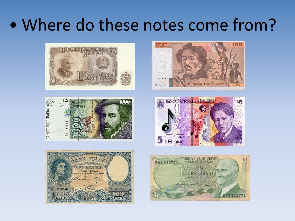 Where do these notes come from?