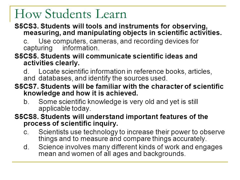 How Students Learn S5CS3.