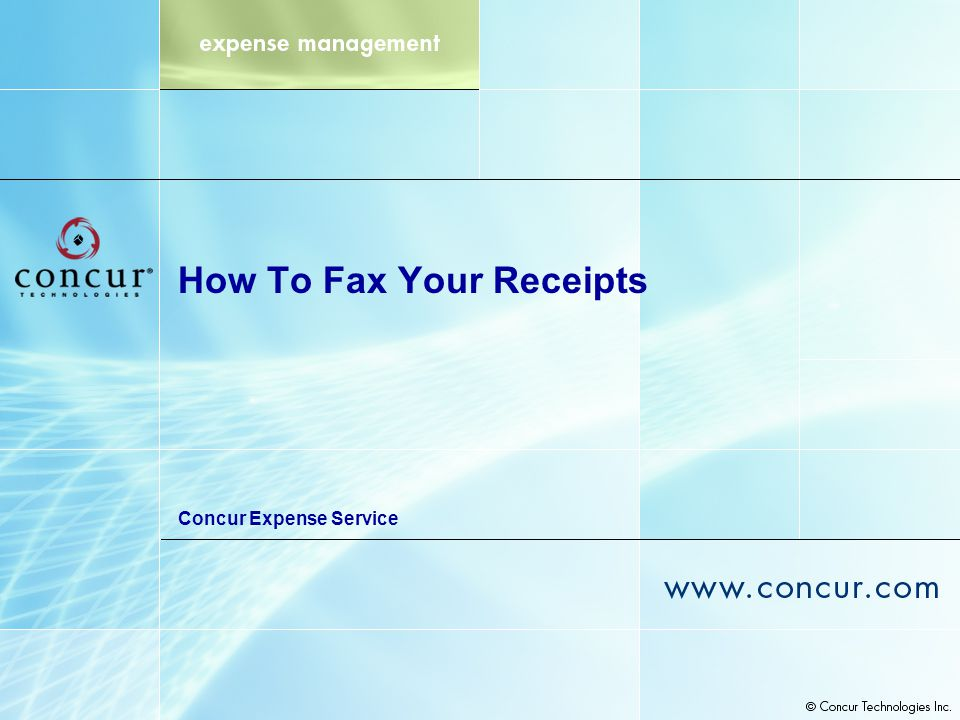 How To Fax Your Receipts Concur Expense Service