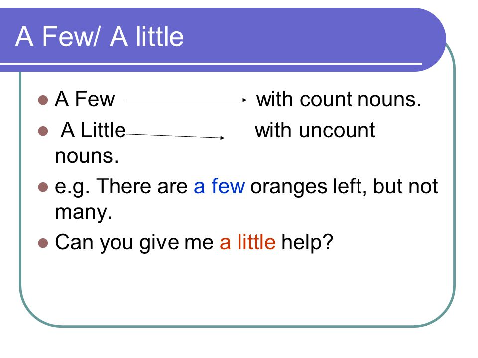 A lot / Lots We use a lot of/lots of with bothcount and uncount nouns: e.g.