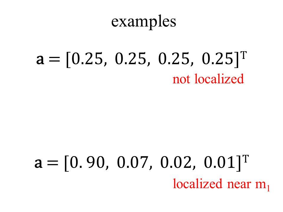 a = [0.25, 0.25, 0.25, 0.25] T a = [0.