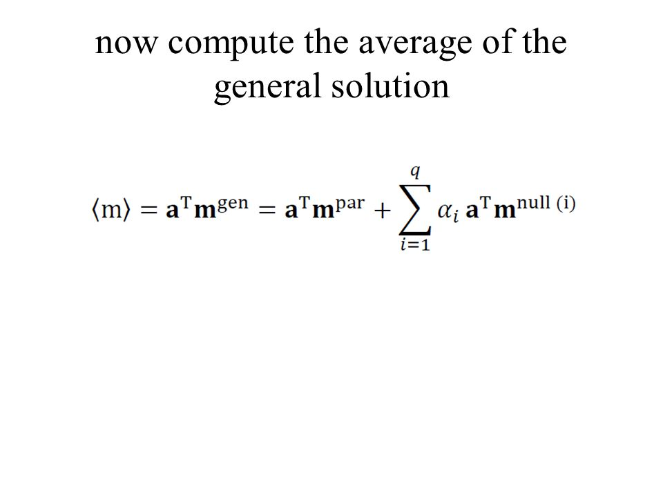now compute the average of the general solution