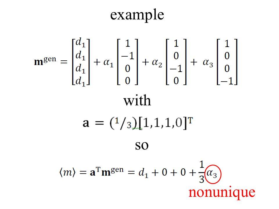 example with so nonunique