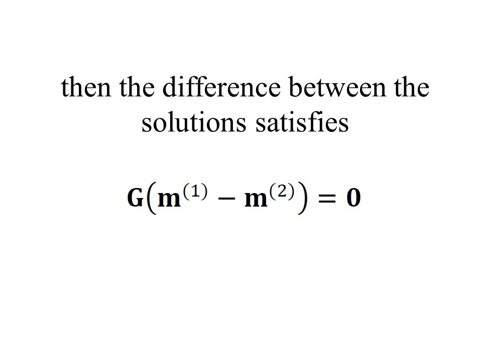 then the difference between the solutions satisfies