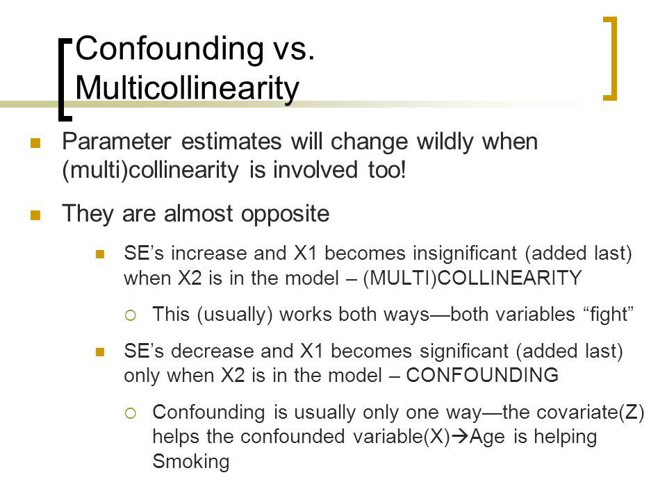Confounding vs.