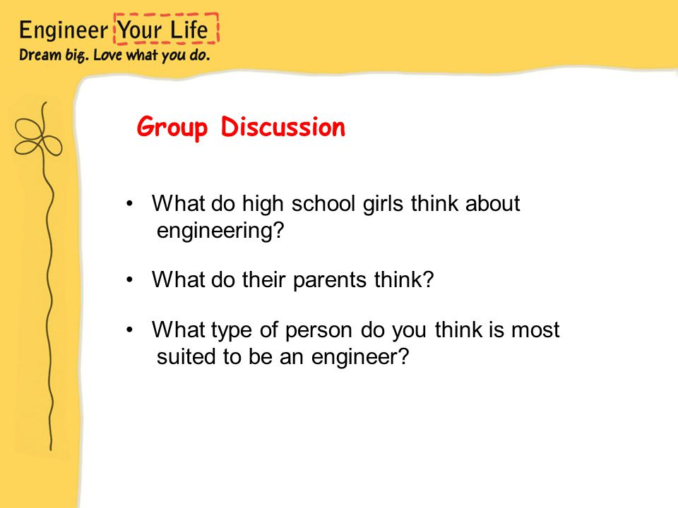 What do high school girls think about engineering.