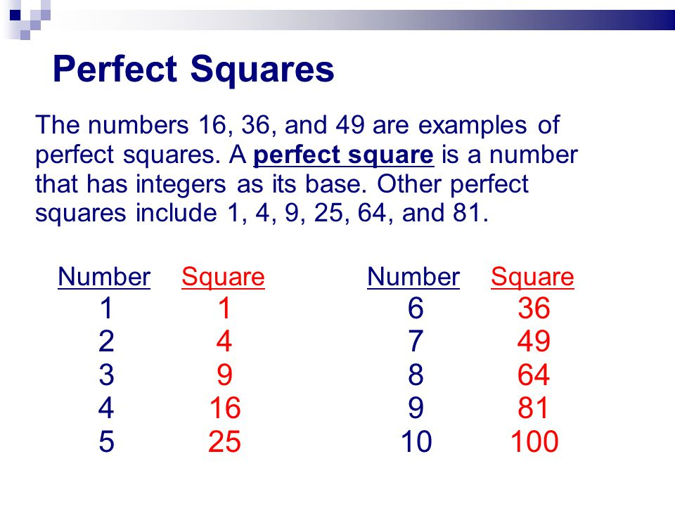 Square Roots Many mathematical operations have an inverse, or opposite, operation.