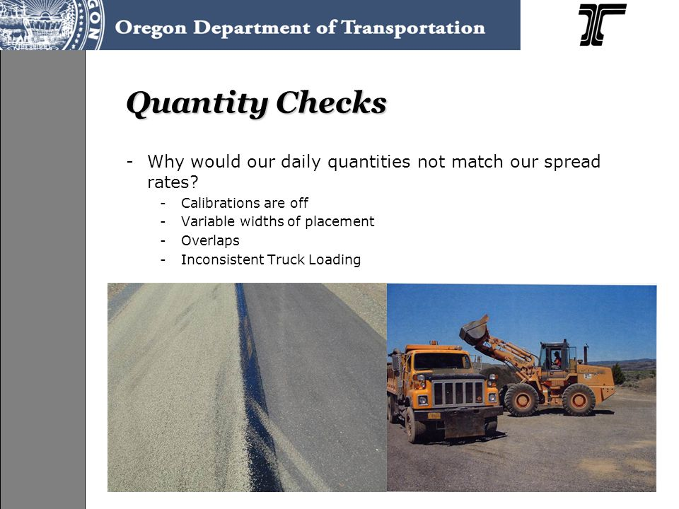 Quantity Checks -Why would our daily quantities not match our spread rates.