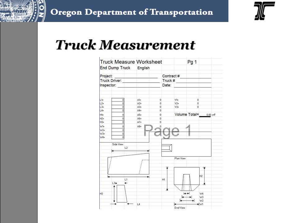 Truck Measurement