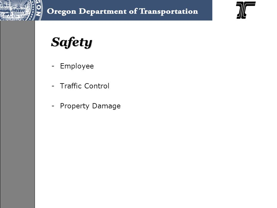 Safety -Employee -Traffic Control -Property Damage