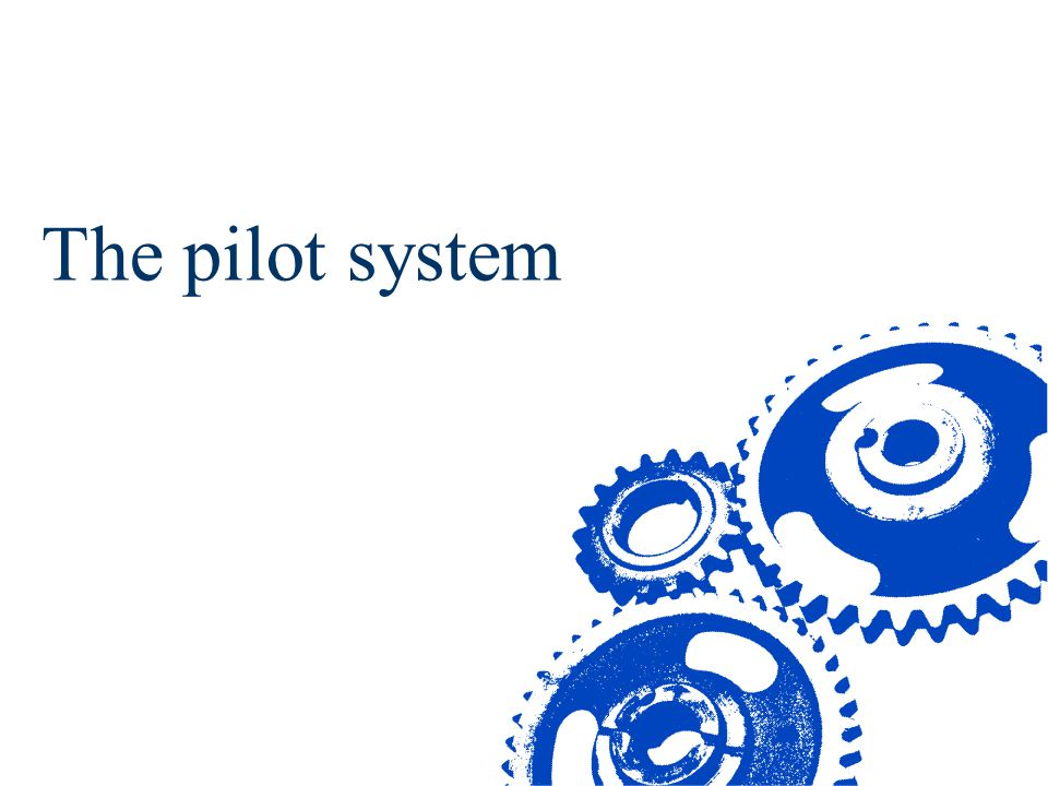 The pilot system