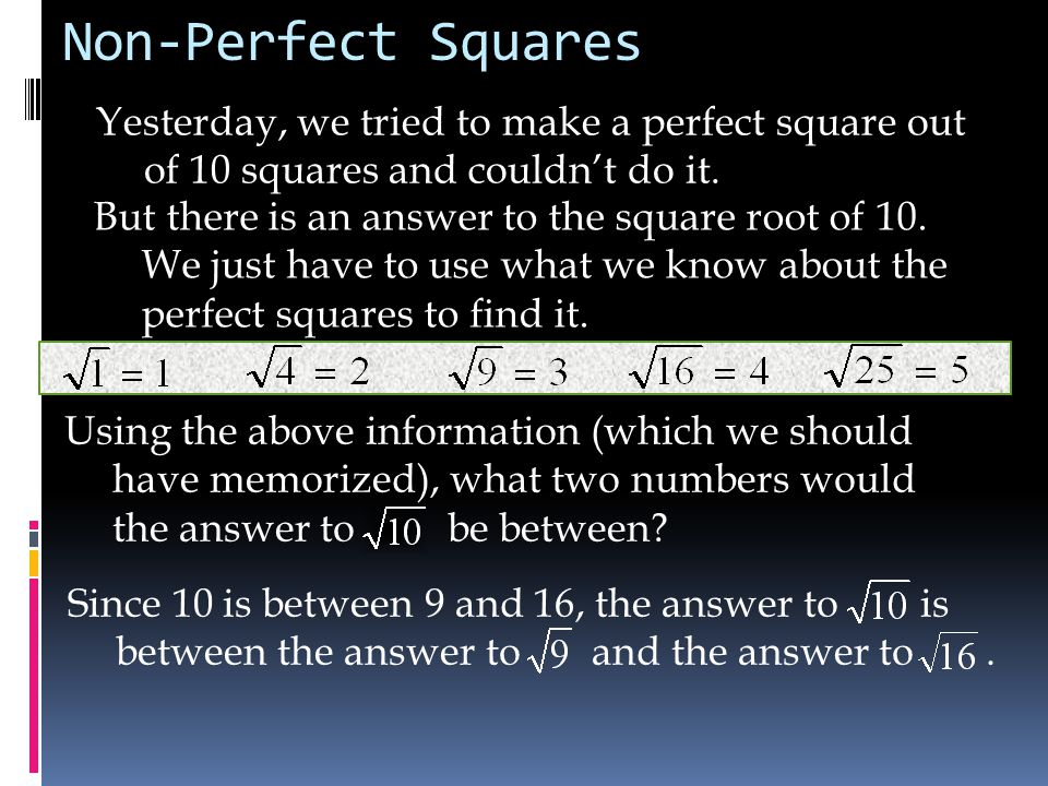 Using the above information (which we should have memorized), what two numbers would the answer to be between.