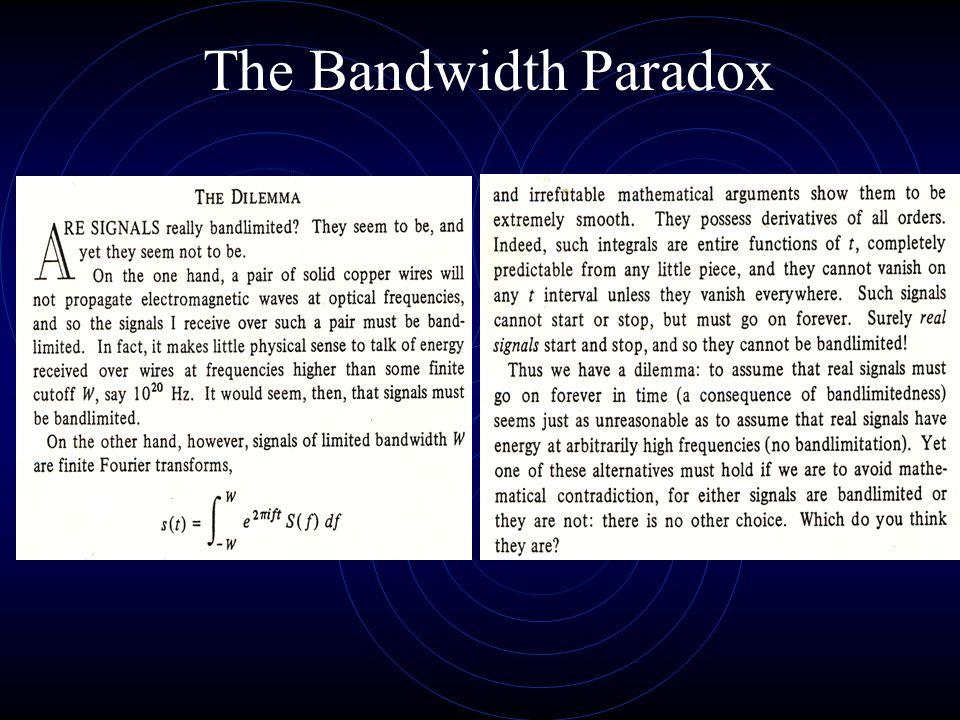The Bandwidth Paradox