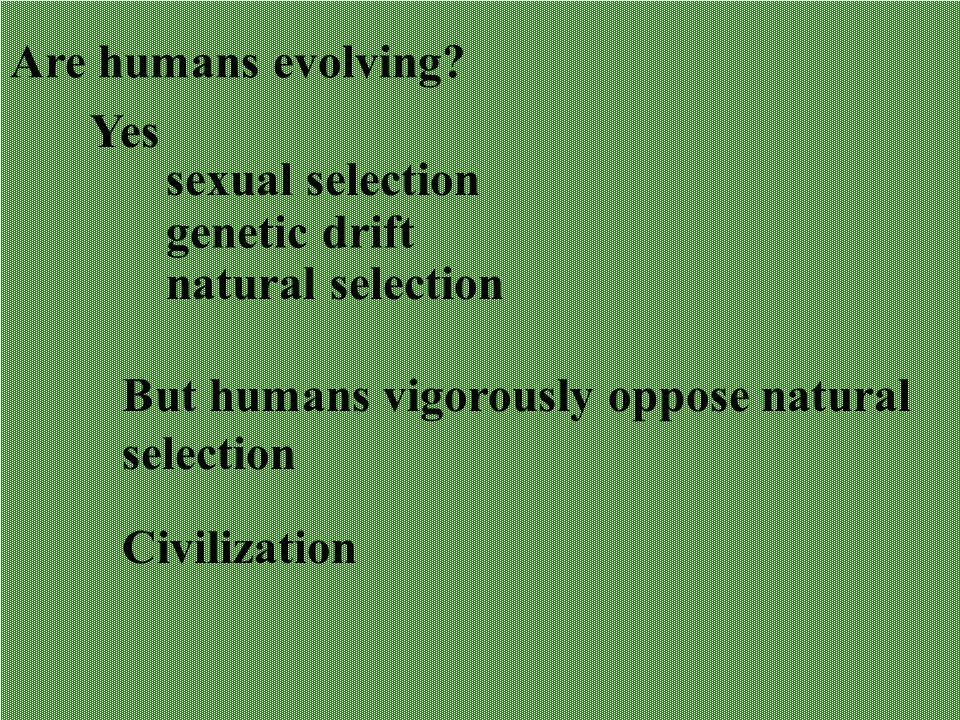 Are humans evolving.