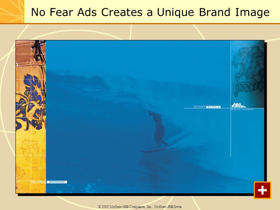 No Fear Ads Creates a Unique Brand Image © 2003 McGraw-Hill Companies, Inc., McGraw-Hill/Irwin +
