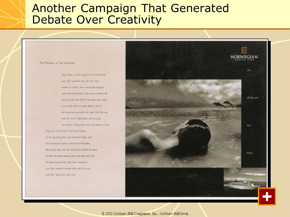 Another Campaign That Generated Debate Over Creativity © 2003 McGraw-Hill Companies, Inc., McGraw-Hill/Irwin +