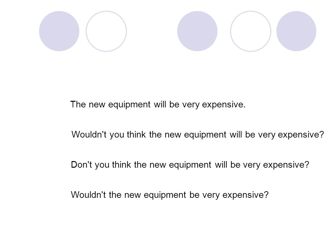 The new equipment will be very expensive.