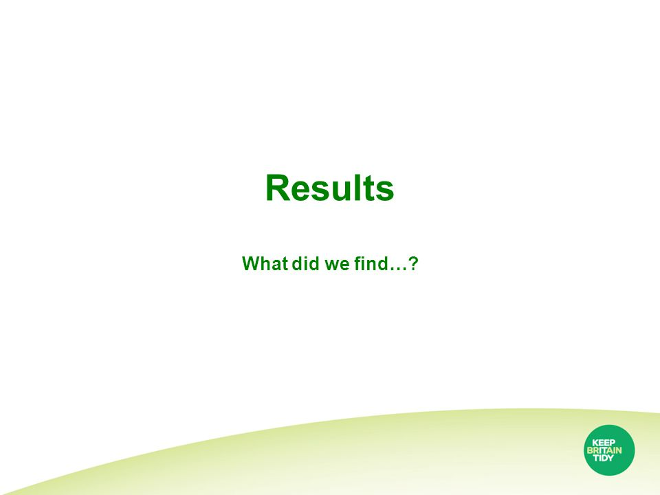 Results What did we find…