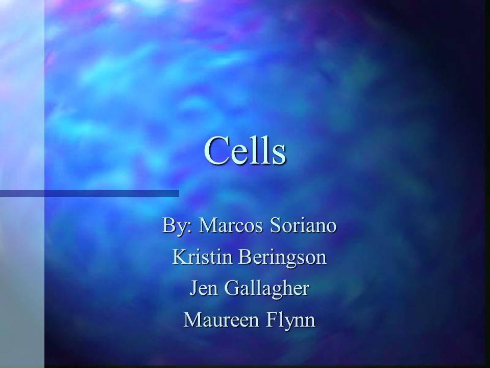 Cells By: Marcos Soriano Kristin Beringson Jen Gallagher Maureen Flynn