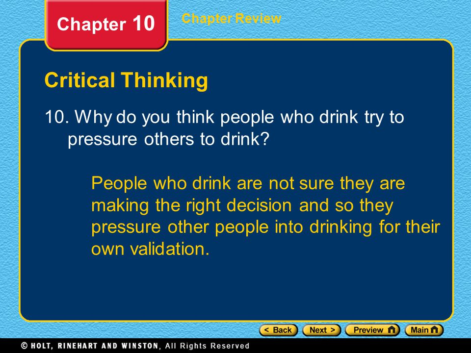 Chapter Review Chapter 10 Critical Thinking 10.